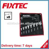 Fixtec Hand Tools 8PCS CRV Double Open End Spanner Set Wrench Set