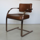 Solid Stainless Steel Conference Chair, Vintage Office Chair, Dining Chair Yh-295