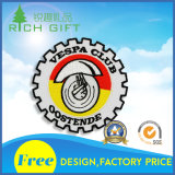Customized Wheel Gear Shape Embroidery Badge