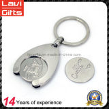 Custom Zinc Alloy Shopping Trolley Coin Key Holder
