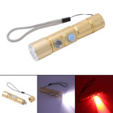 Red White Built-in 16340 Battery CREE Q5 LED Rechargeable Torch