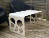New Design Acrylic Solid Surface Modelling Coffee Table Dining Table