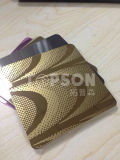201 304 Cold Rolled Mirror 8k Etched Stainless Steel Color Sheet for Elevator Decoration