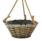 Wooden Hanging Flower Basket for Home and Gargen