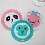 """Cute Panda Printing Paper Plate 7"""""""