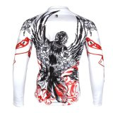 Cool Flowering Patterned Cycling Bicycle White Jersey Jacket