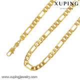 43121 Fashion 24k Gold Plated Jewelry Statement Long Chain Necklace for Men