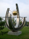 Large Stainless Steel Sculpture, Abstract Arts and Crafts