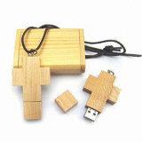 China Manufacturer Wooden Custom USB Flash Drive/USB Stick with Logo