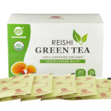 Factory Supply Organic 100% Pure Organic Green Tea with Reishi Extract