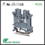 IEC 800V 24V 2.5mm Feed Thru DIN Rail Connector