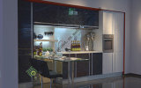 2017 Modern Cream Color Acrylic Kitchen Cabinet (zs-230)