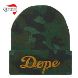 Folded Camo Jacquard Beanie Hats