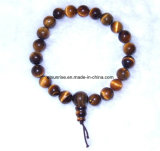 Semi Precious Stone Crystal Beaded Buddha Power Bracelet Jewelry