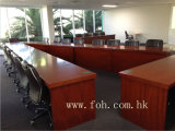 Wooden V Shaped Conference Table Traning Room Meeting Table (FOHA-01)