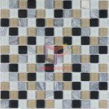 23*23mm Matt Face Glass Mix Stone Mosaic Tile (CS120)
