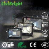 China High Shock Resistant 20W Black IP65 LED Floodlight