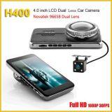 H400 96658 Car Camera Dual Lens Car DVR Super HD 1296p Dash Cam Recorder Dual Cam Car Camcorder