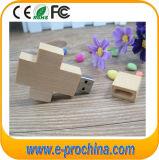 Cross Shaped Wood USB Flash Drive 8GB