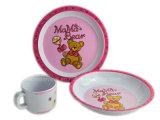 3PCS Melamine Kids Tableware Set