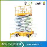 10m Semi Electric Mobile Scissor Lift Platform Scissor Lifter