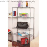 NSF Adjustable Chrome Metal Home Wall Shelves (CJ9035180A5C)