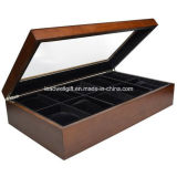 High Gloss with Clear Glass Window Wooden 10 Component Watch Box/Case