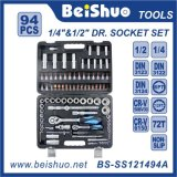 94 PCS 1/4′′ 1/2′′dr. Cr-V Hand Tools Socket Set