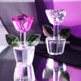 Small Colorful Crystal Flower, Glass Rose for Wedding Favors (KS19016)