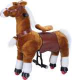 Brown Walking Horse Toy with Wheel for Sale