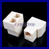 6p4c Rj11 Splitter Telephone Adapter Connector 1-to-2 Female-Female Connector Rj11 Coupler