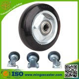 Black Rubber Wheels for Trolley Caster