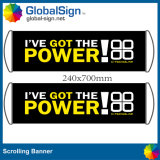 Manufacturer Full Color Vinyl Fan Hand Cheering Scroll Banner