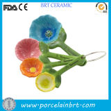 Colorful Flower Ceramic Spoon for Measuring