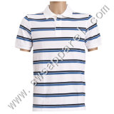 Men's Striped Cotton Polo Shirt/T Shirt