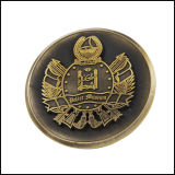 Antique Gold Plated Copper Metal Coin (GZHY-JZ-013)
