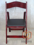 Mahogany Color Wooden Folding Bridal Chair