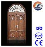 Luxurious Villa Meranti Wooden Door with Glass Design