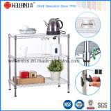 Stainless Steel 3 Layers Chrome Metal Wire Kitchen Rack