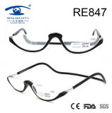 2017 Half Rims Fashion Plastic Magnetic Reading Glasses (RE847)