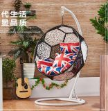 Rattan Shaped Swing Chair Wicker Hanging Single Seat Swing Chair D012