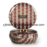 Beautiful and Lovely Fationable Candle Tin Box From China Wholesaler (XJ-009E)