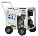 7.0kw Air Cooled Open Frame Diesel Generator with 198f Engine
