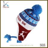 Custom Jacquard Kids Earflap Winter Beanies Hat Cap