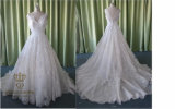 V Neck/Princess Sweetheart Court Train Tulle Lace Wedding Dress