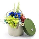 Elegant Customized Blue Cardboard Box Paper Flower Box