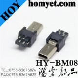 Mini B Type Male USB Connector with 8 Pin for Electric Accessories (HY-BM08)