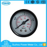 40mm Black Steel Case Back Connection General Pressure Gauge