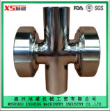 Stainless Steel Ss304 Ss316L Sanitary Four Ways Cross Union Sight Glass