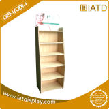 Plywood Floor Display Shelf with LCD Lighting for Cosmetic/Skin Care/Moisturizers/Eye Mask/Facial Scrub/Lip Care